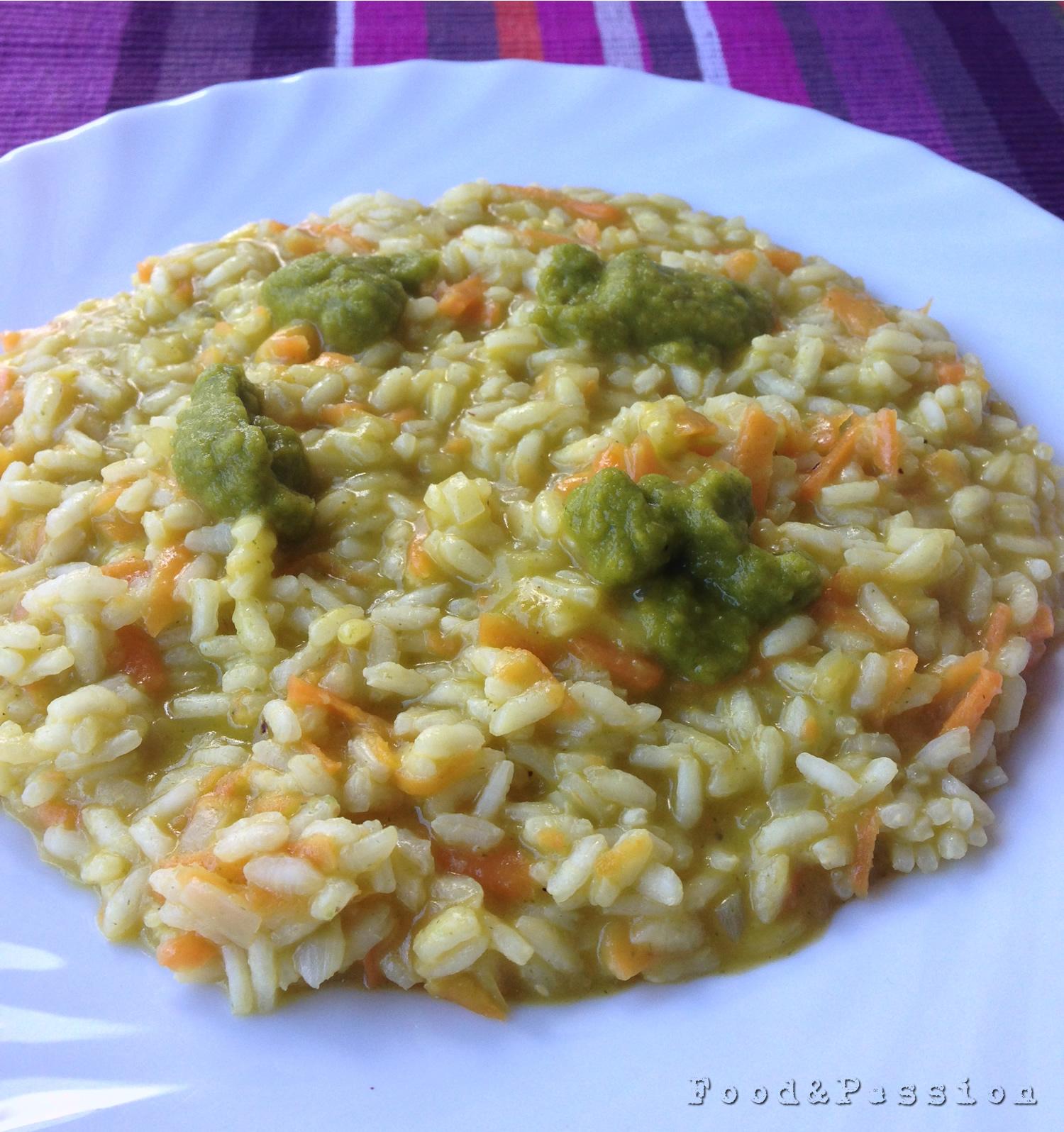 risotto carote crema verdure