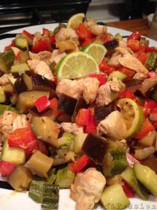 pollo con verdure piatto