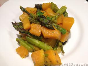 insalata di asparagi e zucca