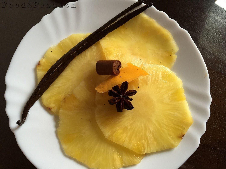 Carpaccio di ananas marinato al prosecco e spezie 1