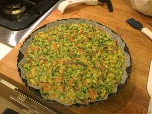 Preparazione Frittata di zucchine e carote al forno