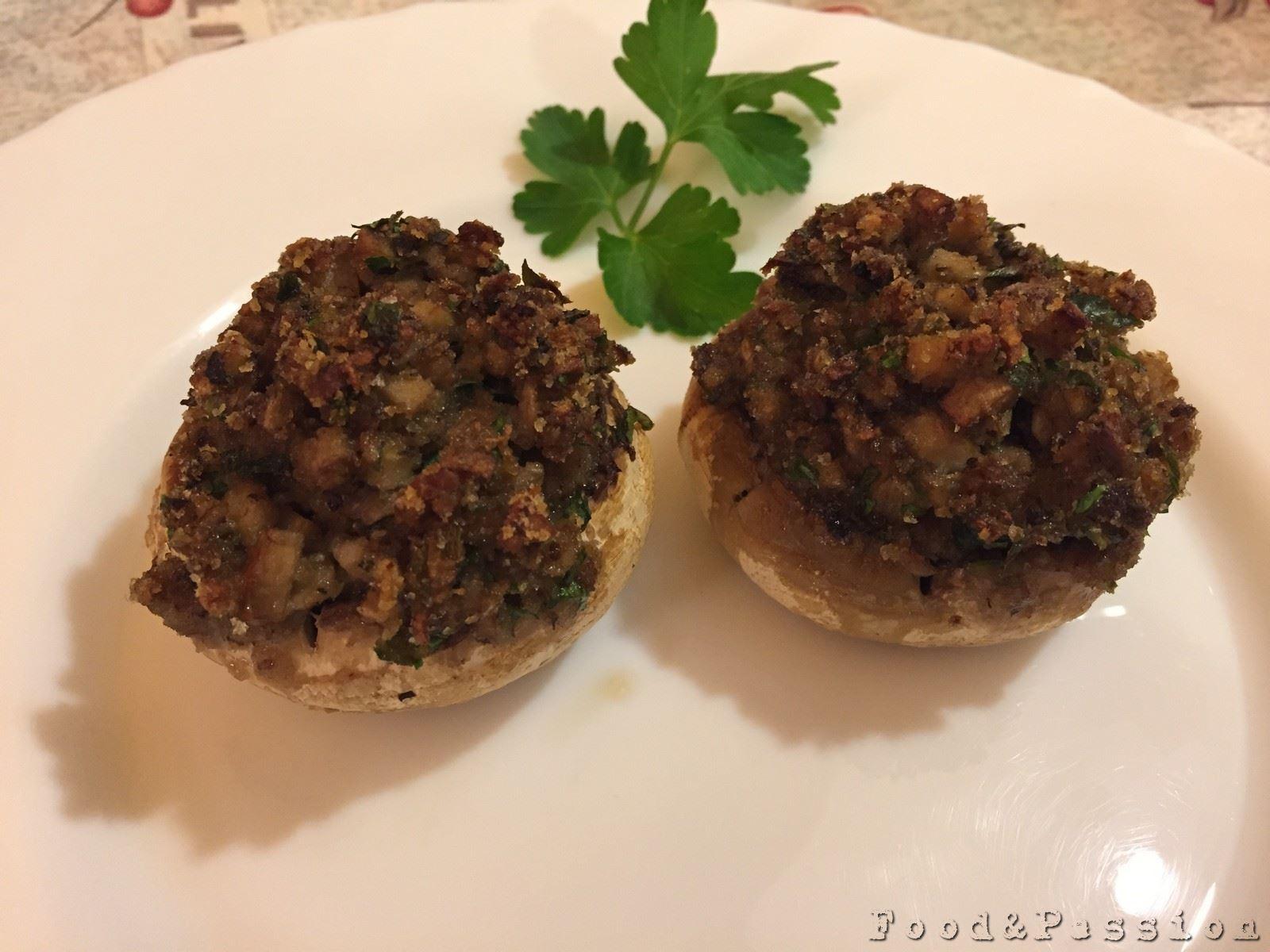 Funghi Champignon gratinati al forno 2