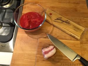Preparazione   Spaghetti all'amatriciana
