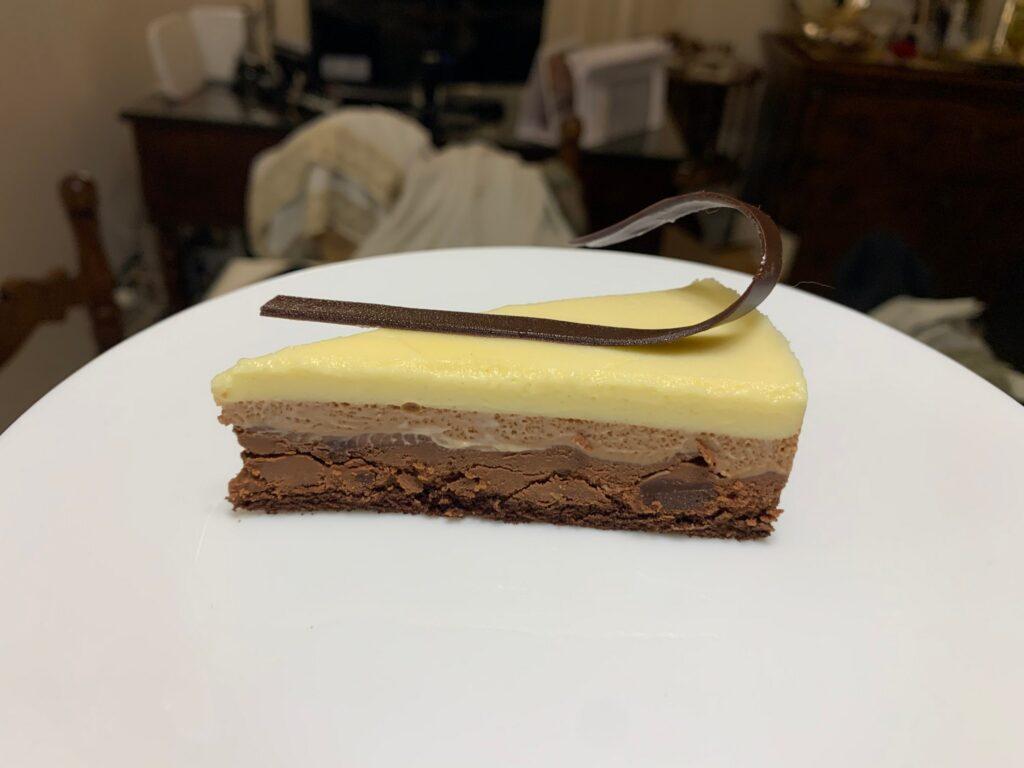 fetta Torta mousse ai tre cioccolati